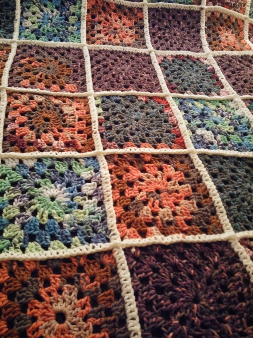 Granny Square Blanket with Patons Big Fab
