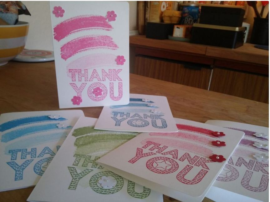 Stampin Up Thank You NoteCards