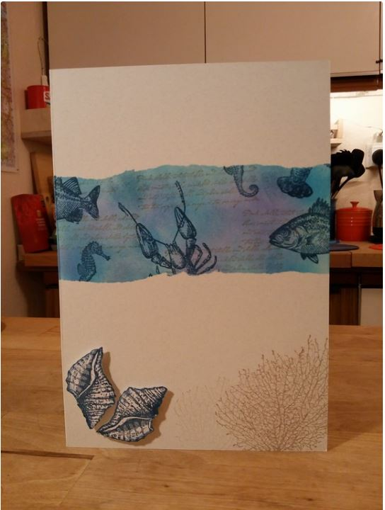 Aquatic themed birthday Card 1