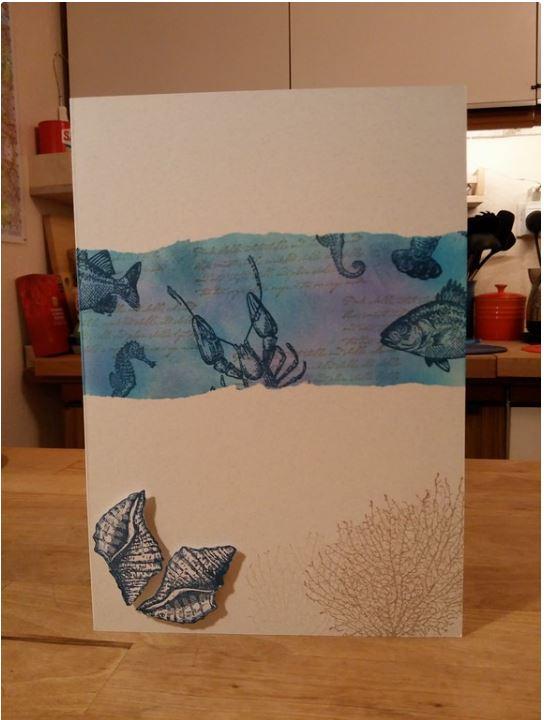 Aquatic themed birthday Card 1