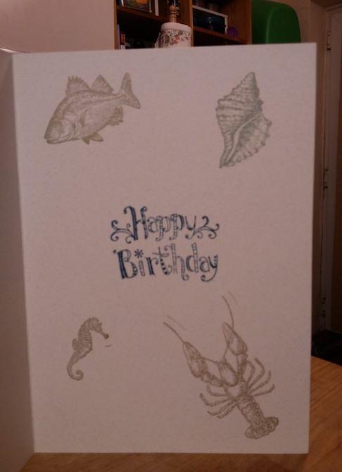 Aquatic themed birthday Card 2