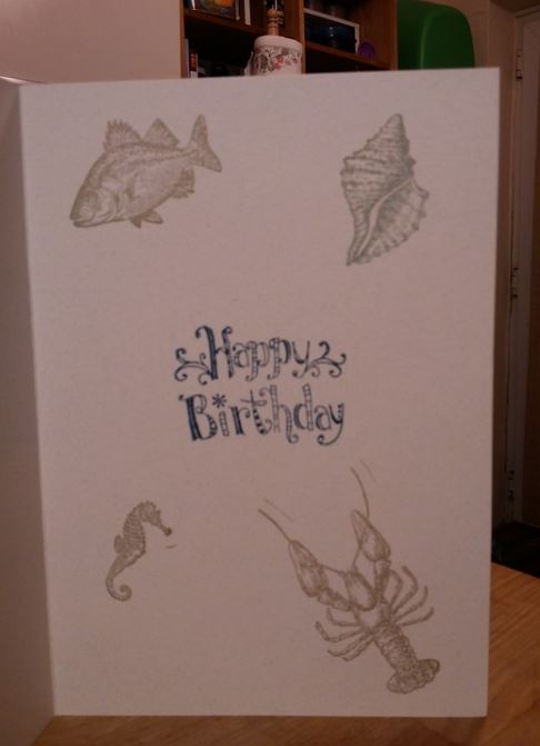 Aquatic themed birthday Card 2