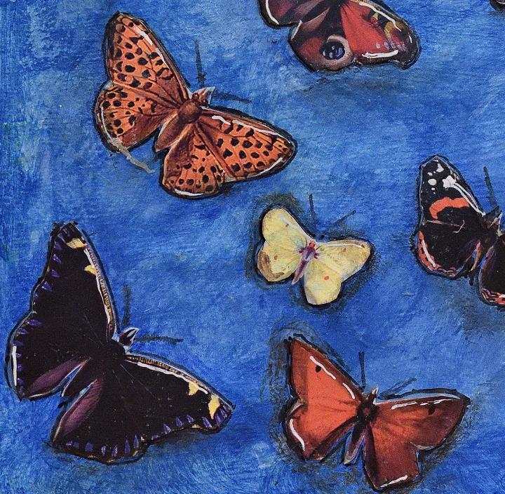 Art Journal Only a dark coccoon butterflies