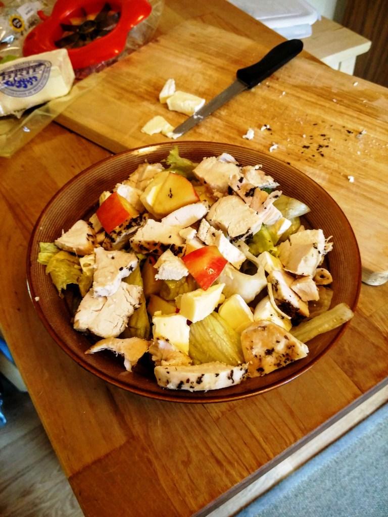 Long shot apple salad