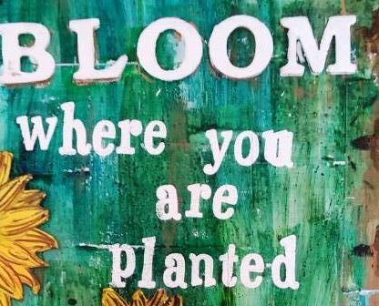 Art Journal Page: Bloom where you are planted