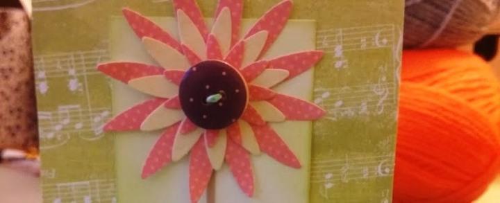 Die-Cut Flower Card