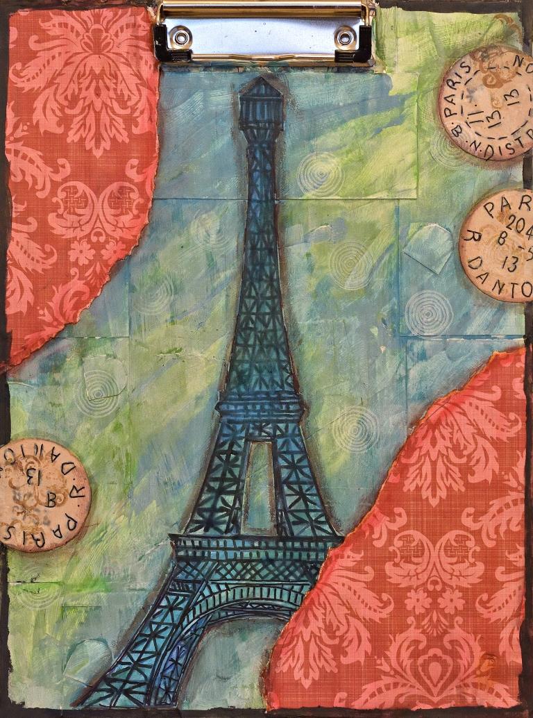 Paris on a clipboard