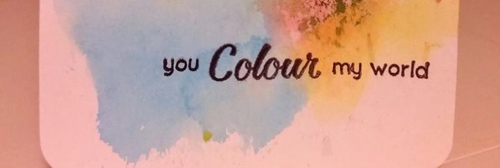 Card: You colour my world
